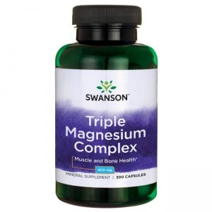 Triple Magnesium complex 100 kaps. 400mg - suplement diety