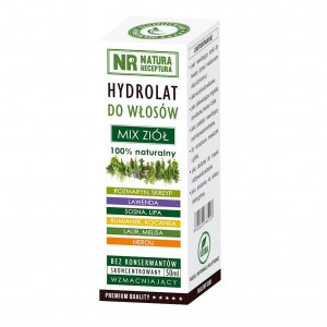 Hydrolat do włosów mix ziół 50ml NATURA RECEPTURA